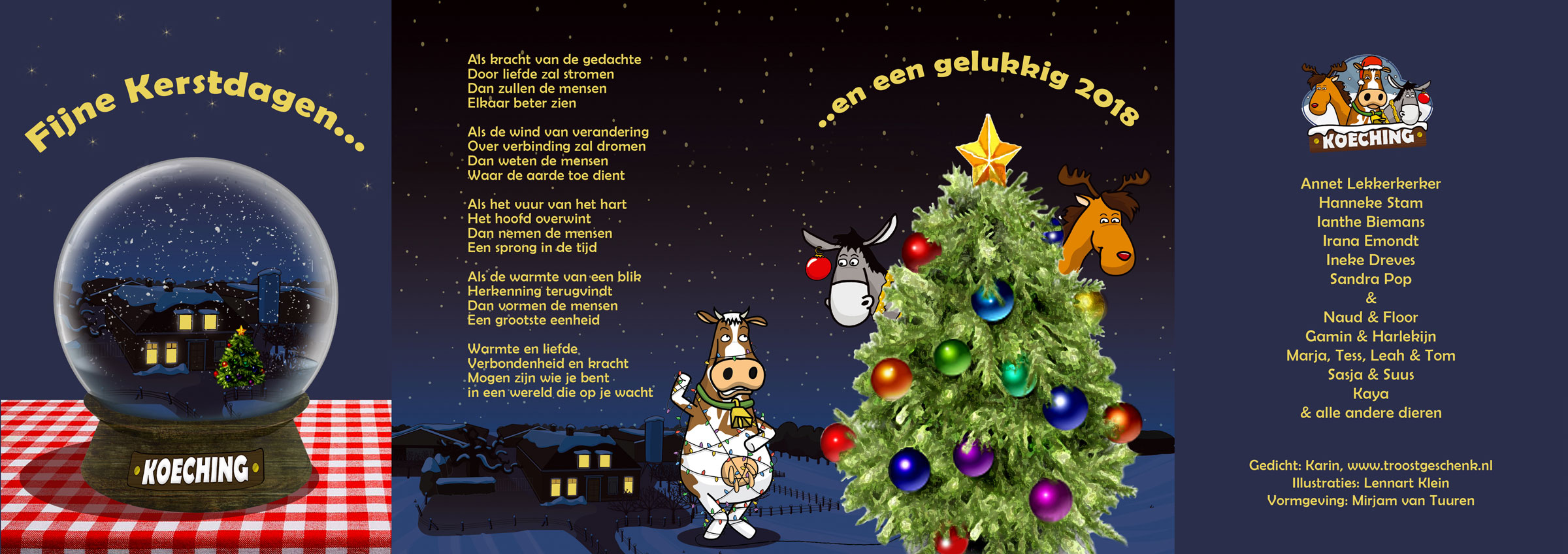 Koeching Amerongen coaching kerstkaart 2017